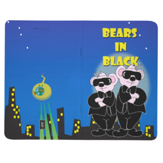 BEARS IN BLACK ALIENS Pocket Journal Grid