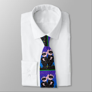 BEARS IN BLACK CARTOON TIE