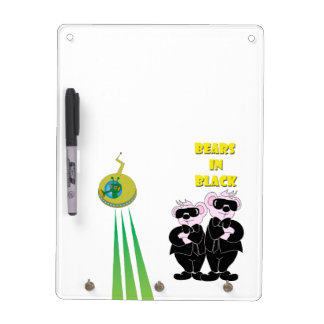 BEARS IN BLACK Keychain holder and Pen (vertical) Dry Erase Board