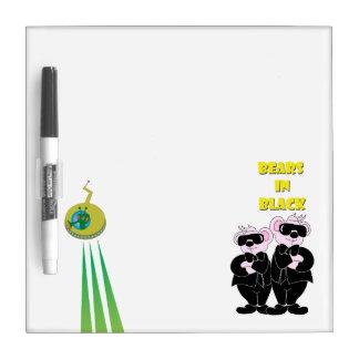 BEARS IN BLACK Small w/ Pen erase Board