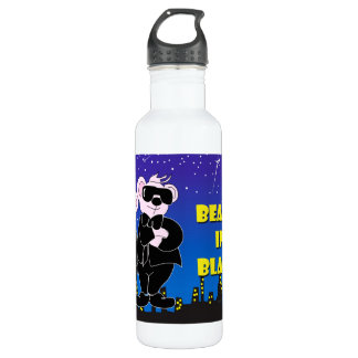 BEARS IN BLACK W ALIEN MONSTER WATER BOTTLE 24 onz 710 Ml Water Bottle