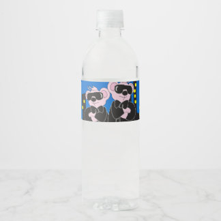 "BEARS IN BLACK Water Bottle Label (8.25"" x 1.75"")"