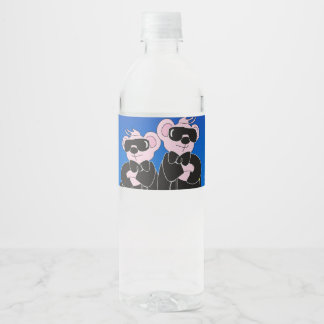 "BEARS IN BLACK Water Bottle Label (8.25"" x 2.125"")"