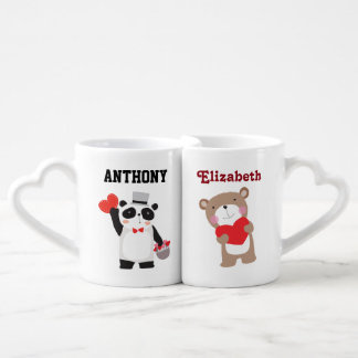 Bears in Love Valentines Day Personalized Coffee Mug Set