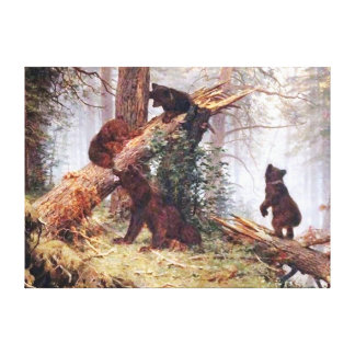 Bears in the Woods Canvas Prints