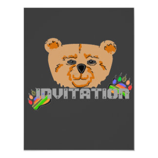 "Bears - Invitation 4.25"" X 5.5"" Invitation Card"