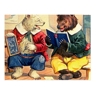 Bears Kept in School Postcard