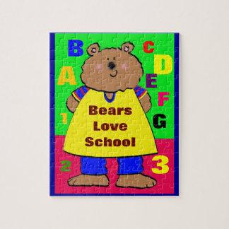 Bears Love School Jigsaw Puzzle