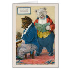 """Bears Making Music"" Vintage Greeting Card"