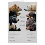 Bears of the World Stationery Note Card