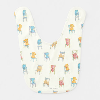 Bears On Chairs Pattern Baby Bibs