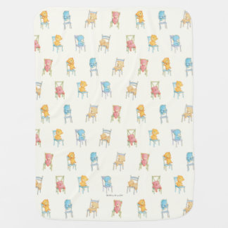 Bears On Chairs Pattern Baby Blanket