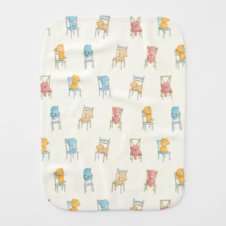 Bears On Chairs Pattern Burp Cloth