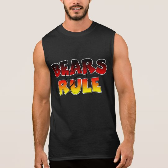Bears Rule - Bear Paw imprint Sleeveless T-Shirt