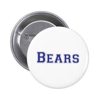 Bears square logo in blue 6 cm round badge