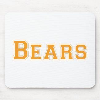 Bears square logo in orange mousepad