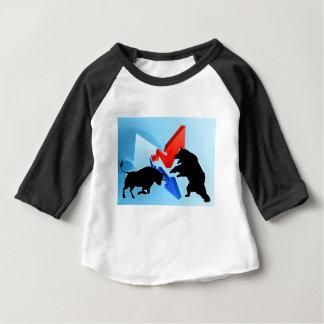 Bears Versus Bulls Stock Market Concept Baby T-Shirt