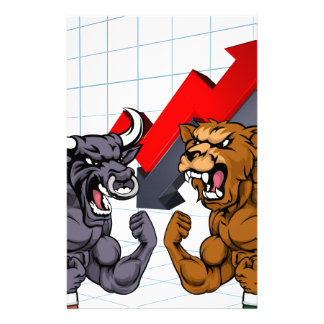 Bears Versus Bulls Stock Market Concept Personalised Stationery