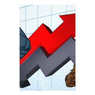 Bears Versus Bulls Stock Market Concept Personalised Stationery
