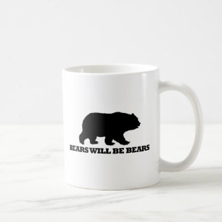 Bears Will Be Bears Basic White Mug