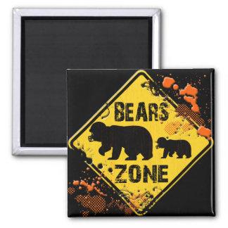 BEARS ZONE ROAD SIGN FRIDGE MAGNET