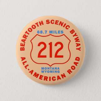 Beartooth Scenic Byway All American Road 6 Cm Round Badge