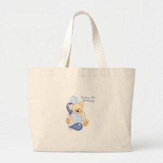 Beary 1st BIrthday (BOY) Jumbo Tote Bag