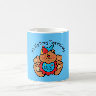 Beary 1st Birthday Boy Mugs