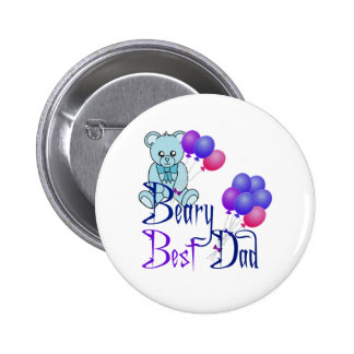 Beary Best Dad 6 Cm Round Badge
