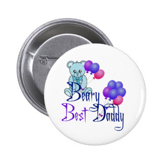 Beary Best Daddy 6 Cm Round Badge
