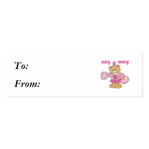 Beary Cheery Cheerleading Bear Business Card Template