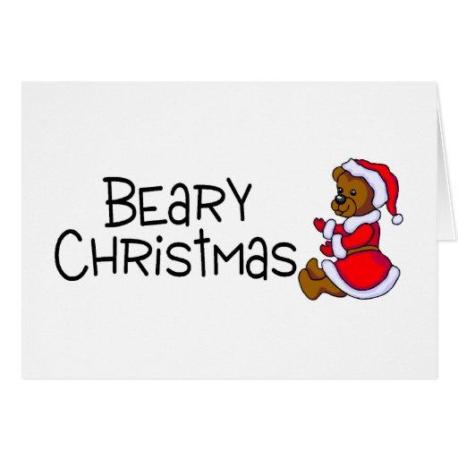 Beary Christmas (Teddy Bear) Greeting Card