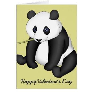 Beary Happy Panda Valentine Greeting Card
