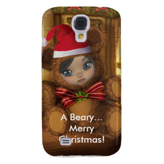 Beary Merry Christmas 3G i Galaxy S4 Covers