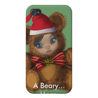 Beary Merry Christmas 4G  Cases For iPhone 4