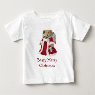 Beary Merry Christmas Angel Teddy Bear Baby T-Shirt