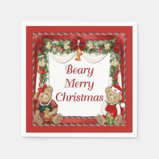 Beary Merry Christmas Disposable Napkin