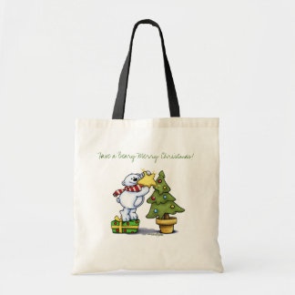 Beary Merry Christmas - First Christmas Budget Tote Bag