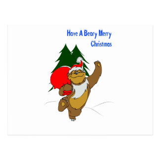 Beary Merry Christmas Postcards