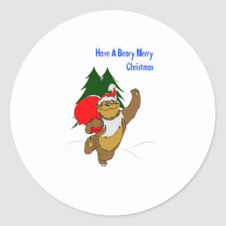 Beary Merry Christmas Stickers
