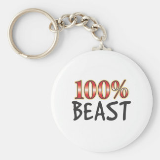 Beast 100 Percent Key Ring