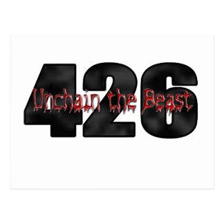 beast 426 Mopar Hemi Postcard