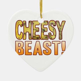 Beast Blue Cheesy Ceramic Heart Decoration