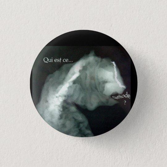 beast francais big 3 cm round badge
