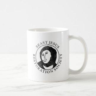 Beast Jesus Restoration Society Basic White Mug