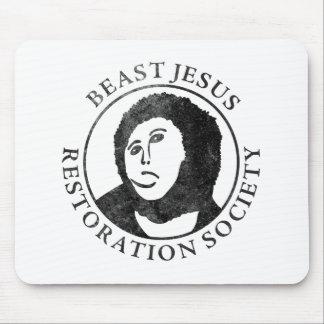 Beast Jesus Restoration Society Mouse Mat