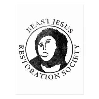 Beast Jesus Restoration Society Postcard