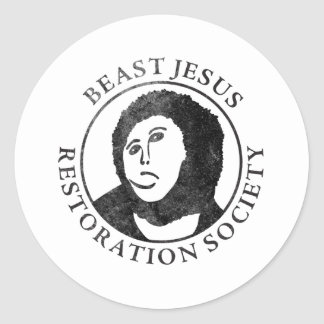 Beast Jesus Restoration Society Round Sticker