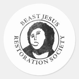 Beast Jesus Restoration Society Stickers