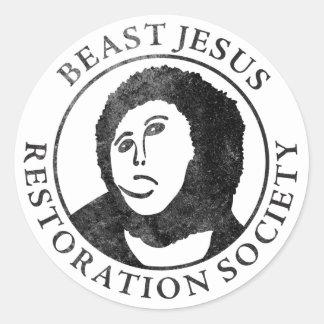 Beast Jesus Restoration Society Sticker
